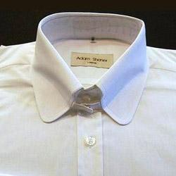 Tab Collar Shirt - White - 100% Cotton